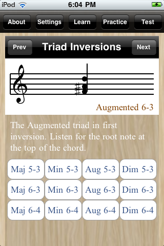 triad inversions